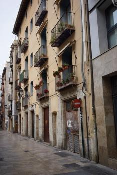 balconies in old city