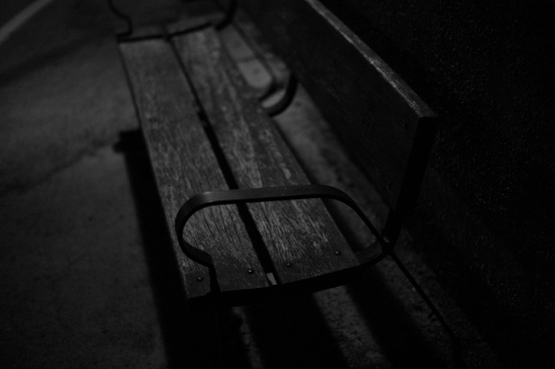 bench in the night